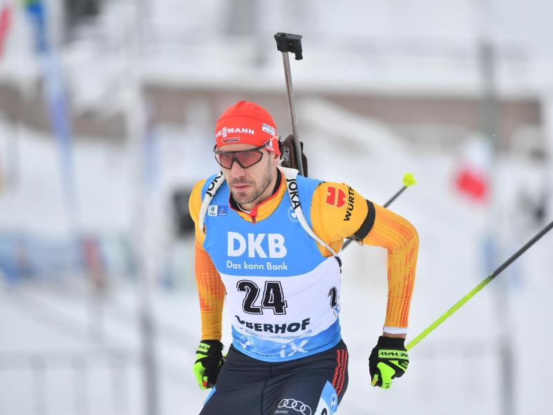 Arnd Peiffer sprintete in Oberhof auf Platz drei. Foto: Martin Schutt/dpa (© Martin Schutt)