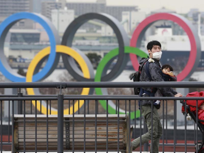 Ein verwegener Plan: Statt in Tokio könnten die Olympischen Spiele in Florida stattfinden. Foto: Koji Sasahara/AP/dpa (© Koji Sasahara)
