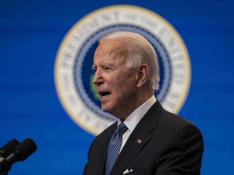 US-Präsident Joe Biden sagt, die Lieferung der zusätzlichen Impfdosen werde bis zum Sommer erwartet. Foto: Evan Vucci/AP/dpa (© Evan Vucci)
