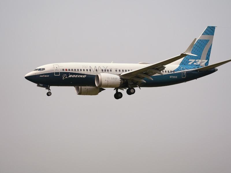 Trotz des Rekordverlusts gibt es für Boeing auch eine gute Nachricht: Der Unglücksjet 737 Max darf nach fast zwei Jahren Flugverbot wieder in Europa abheben. Foto: Elaine Thompson/AP/dpa (© Elaine Thompson)