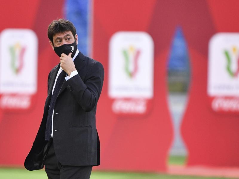 Juve-Boss Andrea Agnelli befürchtet bis zu 8,5 Milliarden Euro Verlust für Europas Fußball. Foto: Alfredo Falcone/LaPresse/AP/dpa (© Alfredo Falcone)
