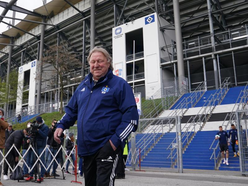 Der neue Trainer des Hamburger SV: Horst Hrubesch übernimmt die Mannschaft bis zum Saisonende. Foto: Marcus Brandt/dpa (© Marcus Brandt)