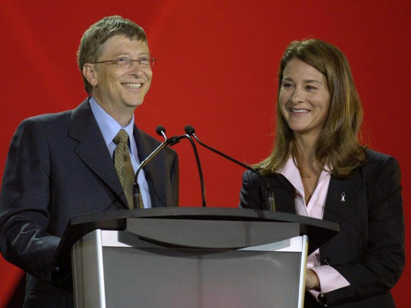 Bill (l) und Melinda Gates lassen sich scheiden. Foto: epa Warren Toda/EPA/dpa/Archiv (© epa Warren Toda)