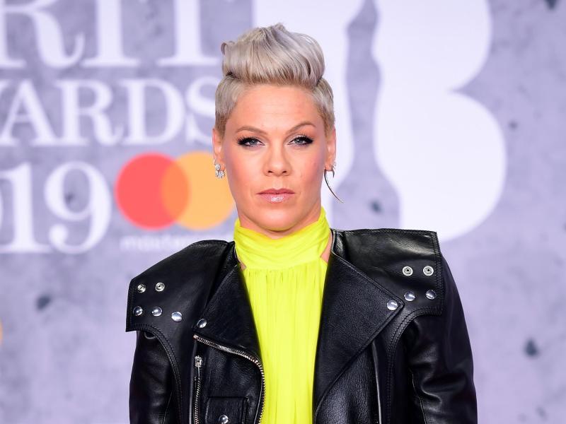 Sänegrin Pink bei den Brit Awards 2019. Foto: Ian West/PA Wire/dpa (© Ian West)