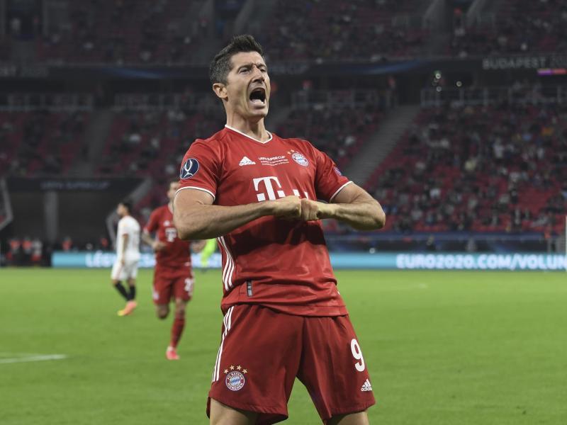 Robert Lewandowski erzielte bisher 40 Tore in dieser Bundesligasaison für den FC Bayern. Foto: Attila Kisbenedek/Pool AFP/AP/dpa (© Attila Kisbenedek)