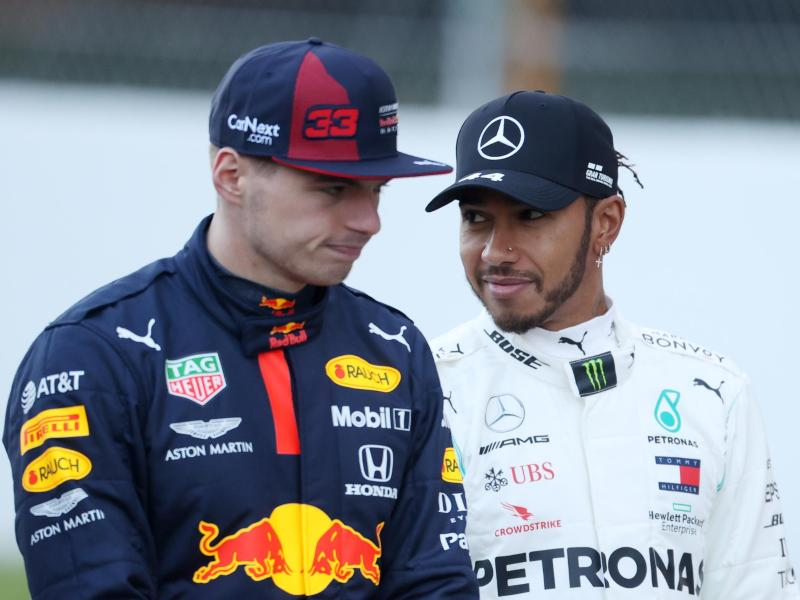 Max Verstappen (l) will in Monaco Lewis Hamilton fordern. Foto: David Davies/PA Wire/dpa (© David Davies)