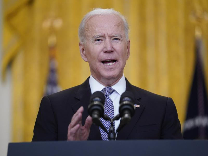 US-Präsident Joe Biden spricht sich im Nahost-Konflikt für eine Waffenruhe aus. Foto: Evan Vucci/AP/dpa (© Evan Vucci)