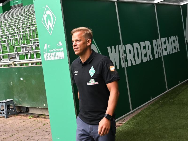 «Wir dürfen das Ziel Wiederaufstieg nicht nach vorne stellen», sagt der neue Werder-Trainer Markus Anfang. Foto: Carmen Jaspersen/dpa Pool/dpa (© Carmen Jaspersen)