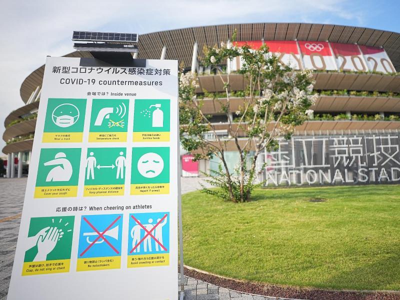 Bei den Olympischen Spielen wurden weitere Corona-Fälle gemeldet. Foto: Michael Kappeler/dpa (© Michael Kappeler)