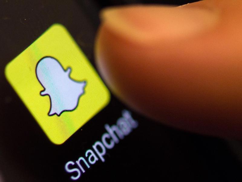 Die Foto-App Snapchat hat im zweiten Quartal starken Zulauf verzeichnet. Foto: Patrick Seeger/dpa (© Patrick Seeger)