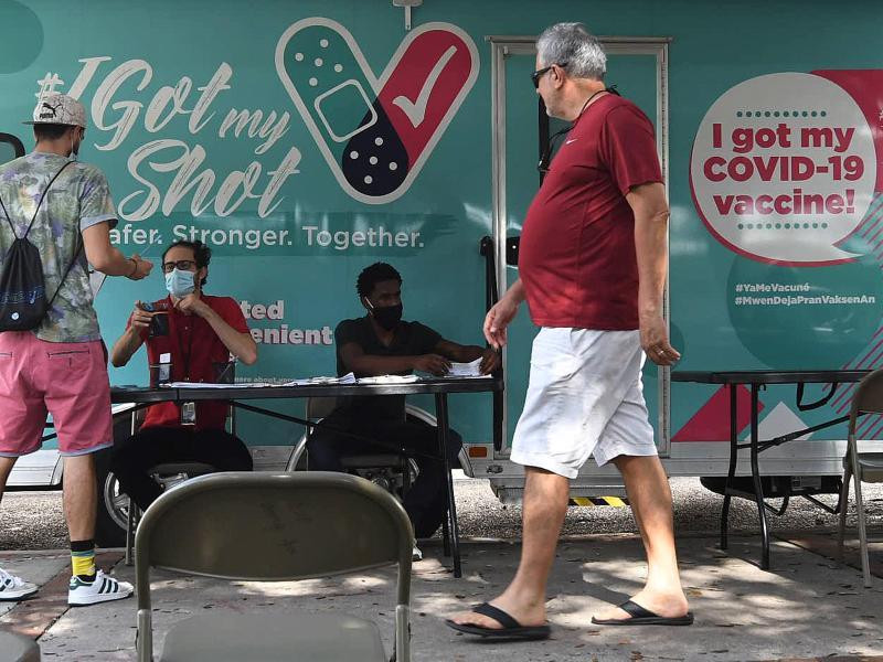 Mobile Corona-Impfstelle in Orlando, Florida. Foto: Paul Hennessy/SOPA Images via ZUMA Press Wire/dpa (© Paul Hennessy)