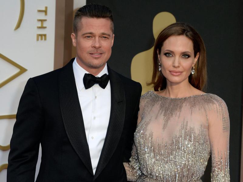Angelina Jolie und Brad Pitt, hier 2014 in Hollywood, galten lange als absolutes Traumpaar. Foto: Mike Nelson/EPA/dpa (© Mike Nelson)