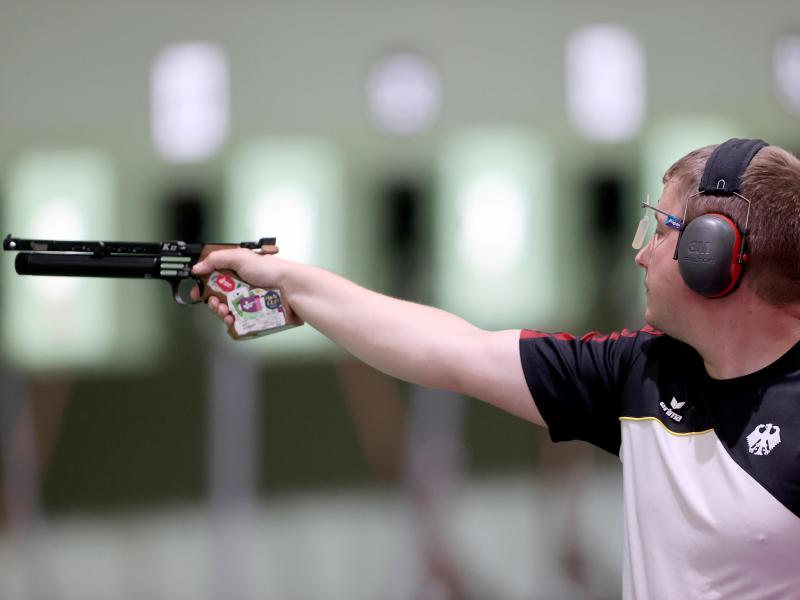 Wurde Fünfter im Finale mit der Luftpistole: Christian Reitz. Foto: Oliver Weiken/dpa (© Oliver Weiken)