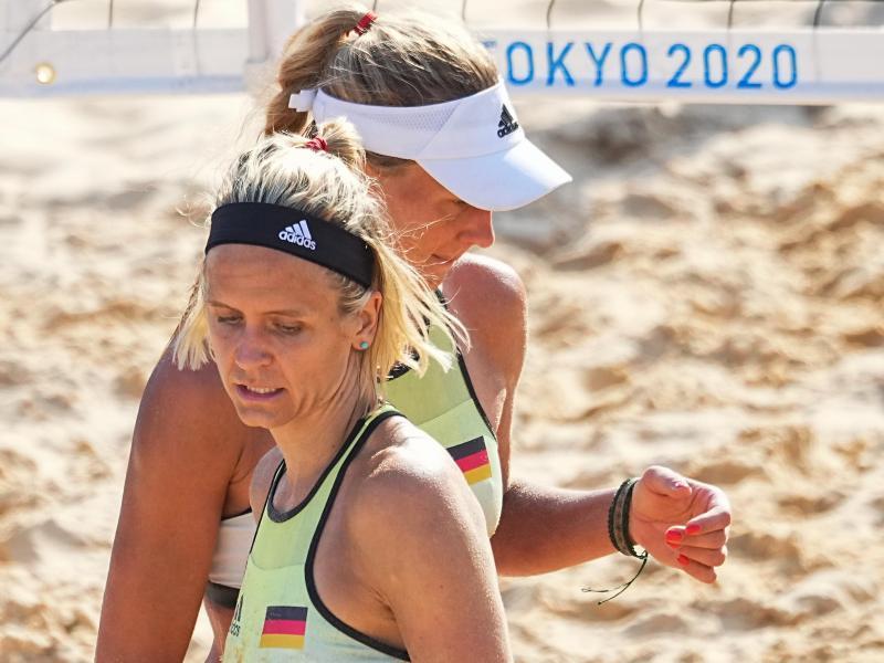 Laura Ludwig (l) und Margareta Kozuch verloren zum Olympia-Auftakt. Foto: Michael Kappeler/dpa (© Michael Kappeler)