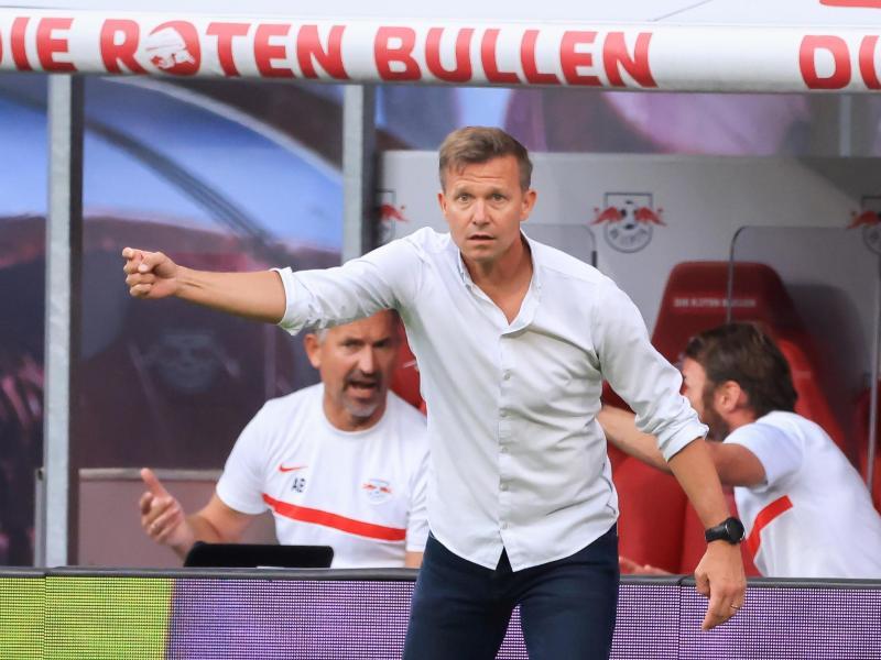Kann bei Man City personell fast aus dem Vollem schöpfen:Leipzig-Coach Jesse Marsch. Foto: Jan Woitas/dpa-Zentralbild/dpa (© Jan Woitas)