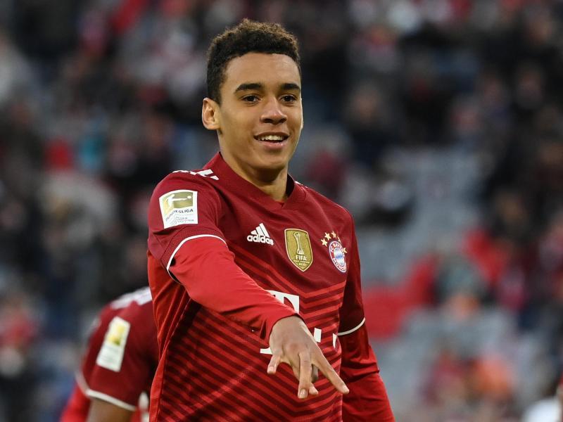 Bayern-Offensivspieler Jamal Musiala darf in Barcelona von Anfang an ran. Foto: Sven Hoppe/dpa (© Sven Hoppe)
