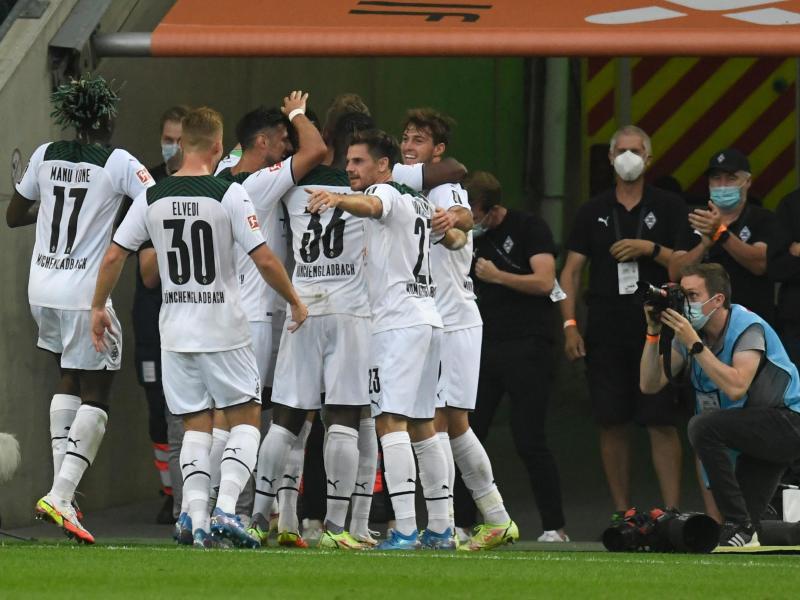 Gladbach feierte gegen Dortmund einen wichtigen Sieg. Foto: Bernd Thissen/dpa (© Bernd Thissen)
