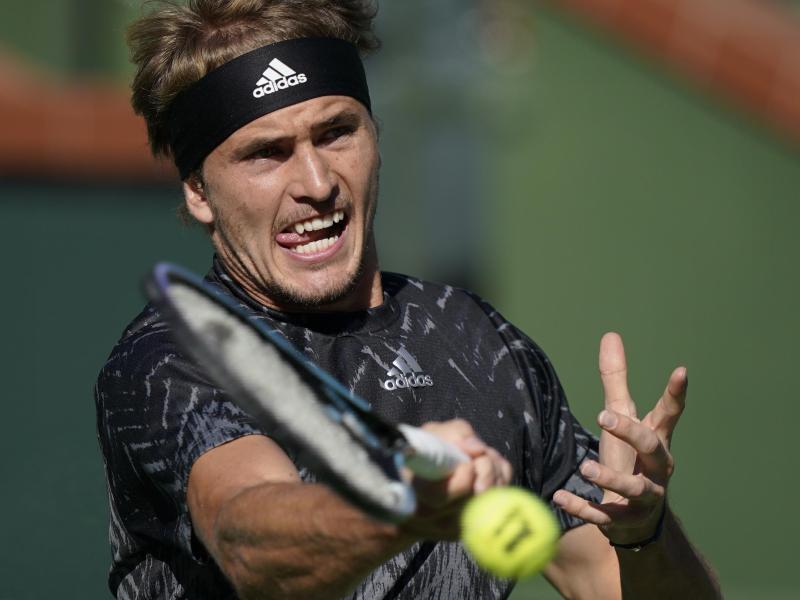 Wahrte in Indian Wells seine Titelchance:Alexander Zverev. Foto: Mark J. Terrill/AP/dpa (© Mark J. Terrill)