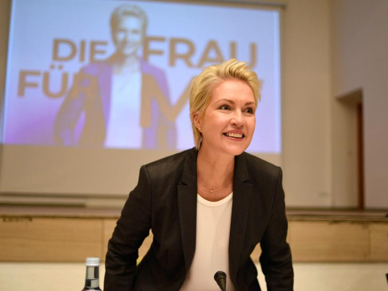 Manuela Schwesig kündigt Koalitionsverhandlungen mit der Partei Die Linke an. Foto: Frank Hormann/dpa (© Frank Hormann)