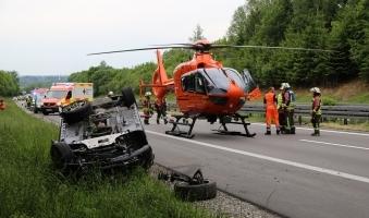 Foto: Verkehrsunfall auf der A96 bei Bad Wörishofen - Flüchtiger Österreicher bei Aichstetten geschnappt