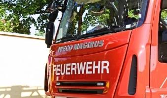 Foto: Vollbrand einer Werkshalle in Buchloe - Brandursache derzeit noch unklar