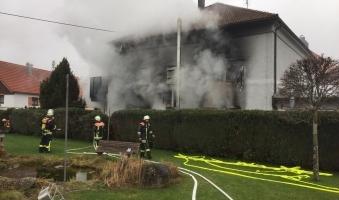 Foto: Großer Schaden bei Wäscherei-Brand in Weiler - Ursache noch völlig unklar