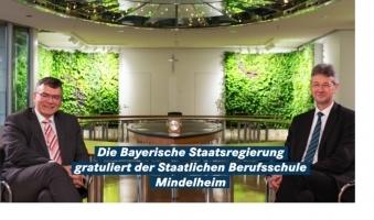 Foto: Exzellenzpreis der EU für Mindelheimer Berufsschule -