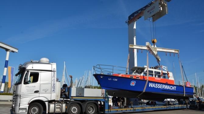 Rettungsboot Seewolf ist zurück in Lindau am Bodensee